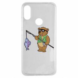 Чохол для Xiaomi Redmi Note 7 Ведмідь ловить рибу
