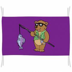 Прапор Ведмідь ловить рибу