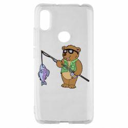 Чохол для Xiaomi Redmi S2 Ведмідь ловить рибу