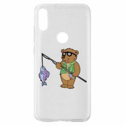Чохол для Xiaomi Mi Play Ведмідь ловить рибу