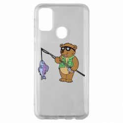Чохол для Samsung M30s Ведмідь ловить рибу