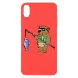 Чохол для iPhone X/Xs Ведмідь ловить рибу