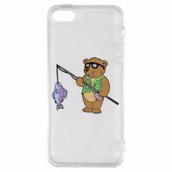 Чохол для iphone 5/5S/SE Ведмідь ловить рибу