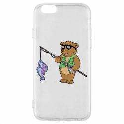 Чохол для iPhone 6/6S Ведмідь ловить рибу