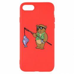 Чохол для iPhone 8 Ведмідь ловить рибу