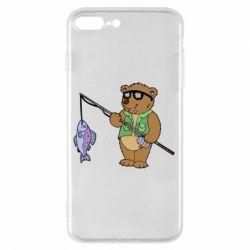 Чохол для iPhone 8 Plus Ведмідь ловить рибу