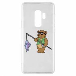 Чохол для Samsung S9+ Ведмідь ловить рибу