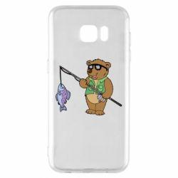 Чохол для Samsung S7 EDGE Ведмідь ловить рибу