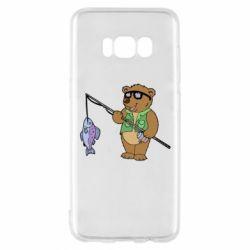 Чохол для Samsung S8 Ведмідь ловить рибу