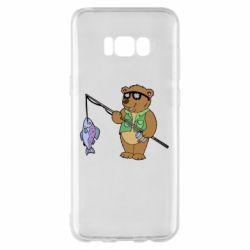 Чохол для Samsung S8+ Ведмідь ловить рибу