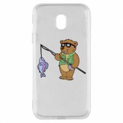 Чохол для Samsung J3 2017 Ведмідь ловить рибу