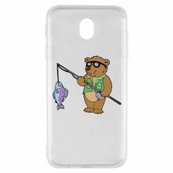 Чохол для Samsung J7 2017 Ведмідь ловить рибу