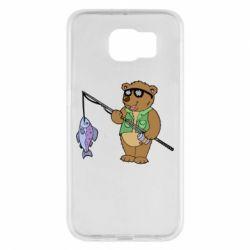 Чохол для Samsung S6 Ведмідь ловить рибу