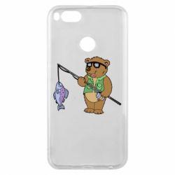 Чохол для Xiaomi Mi A1 Ведмідь ловить рибу