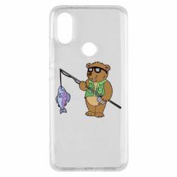 Чохол для Xiaomi Mi A2 Ведмідь ловить рибу