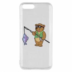 Чохол для Xiaomi Mi6 Ведмідь ловить рибу