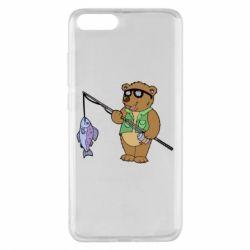 Чохол для Xiaomi Mi Note 3 Ведмідь ловить рибу