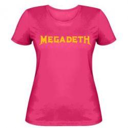 Женская футболка Megadeth - FatLine