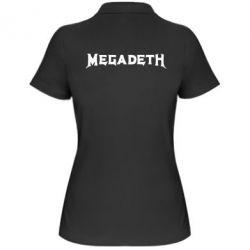 Женская футболка поло Megadeth - FatLine