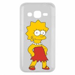 Чехол для Samsung J2 2015 Мэгги Симпсон - FatLine