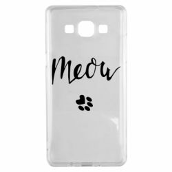 Чохол для Samsung A5 2015 Meow and the trail of a cat