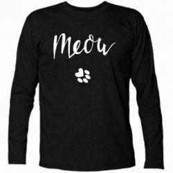 Футболка з довгим рукавом Meow and the trail of a cat