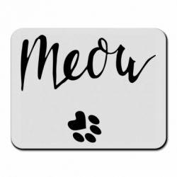 Килимок для миші Meow and the trail of a cat