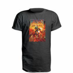 Удлиненная футболка Meow Doom