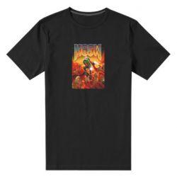 Мужская стрейчевая футболка Meow Doom