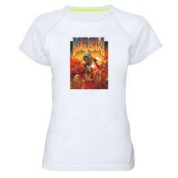 Женская спортивная футболка Meow Doom