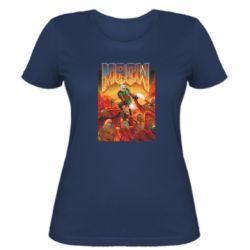 Женская футболка Meow Doom