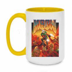 Кружка двухцветная 420ml Meow Doom