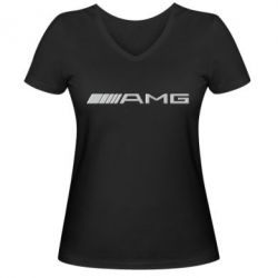 Женская футболка с V-образным вырезом Mercedes-AMG - FatLine