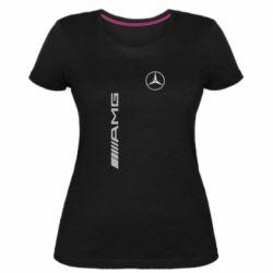 Мужская футболка  с V-образным вырезом Mercedes AMG - FatLine