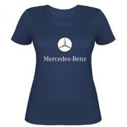 Женская футболка Mercedes-Benz Logo - FatLine