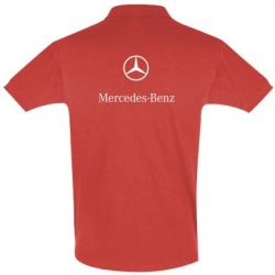 Футболка Поло Mercedes Benz logo - FatLine