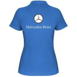 Женская футболка поло Mercedes-Benz Logo - FatLine