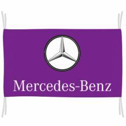 Флаг Mercedes-Benz Logo