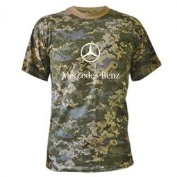 Камуфляжная футболка Mercedes Benz logo - FatLine