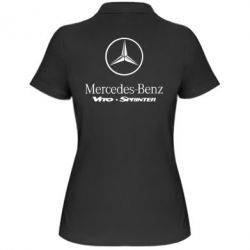 Женская футболка поло Mercedes Benz - FatLine
