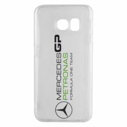 Чехол для Samsung S6 EDGE Mercedes GP Vert