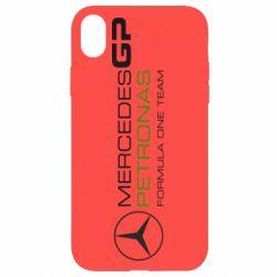 Чехол для iPhone XR Mercedes GP Vert