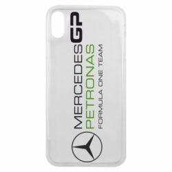 Чехол для iPhone Xs Max Mercedes GP Vert