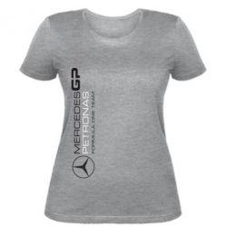 Женская футболка Mercedes GP Vert - FatLine