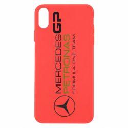 Чехол для iPhone X/Xs Mercedes GP Vert