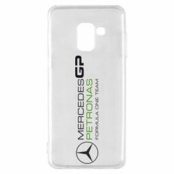 Чехол для Samsung A8 2018 Mercedes GP Vert