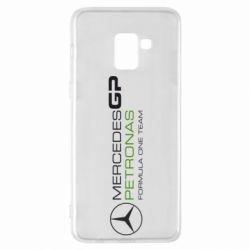 Чехол для Samsung A8+ 2018 Mercedes GP Vert