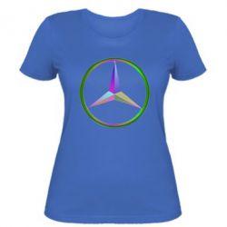 Женская футболка Mercedes Logo Art - FatLine