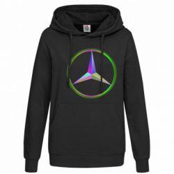 Женская толстовка Mercedes Logo Art - FatLine