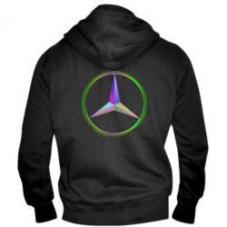 Мужская толстовка на молнии Mercedes Logo Art - FatLine